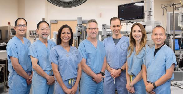 Urology surgery team