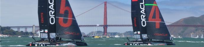 USA 4 and USA 5 near the Golden Gate Bridge