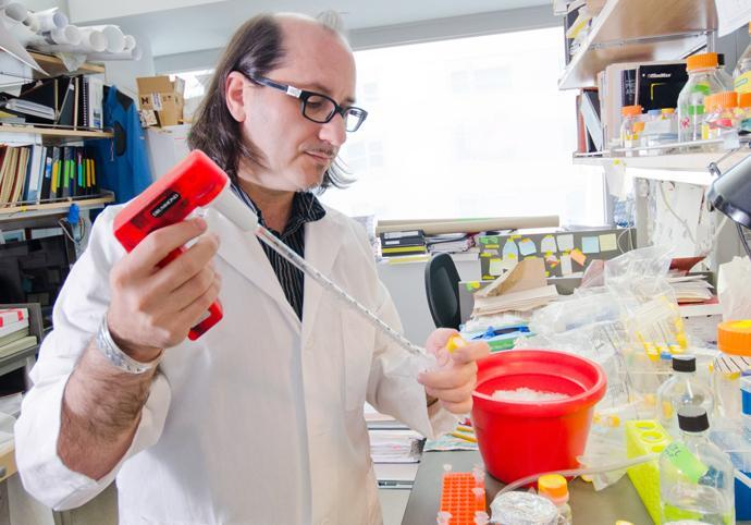 Dr. Ruggero in the Lab