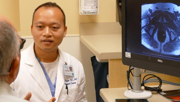 Dr Nguyen in clinic